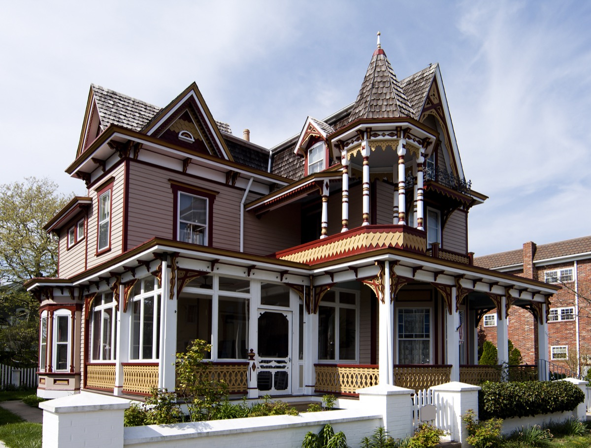 Home with ornate woodwork
