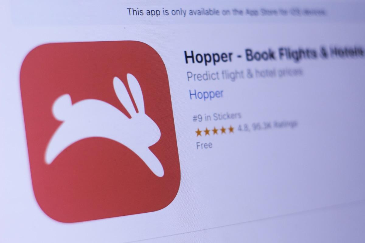 Hopper app booking cheap flights