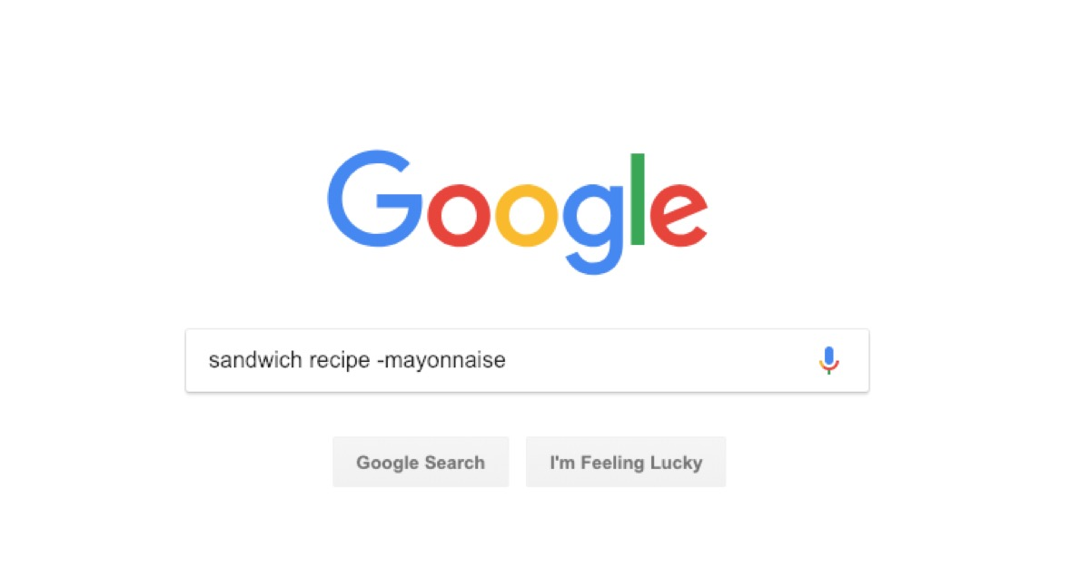 google recipe search - google tricks