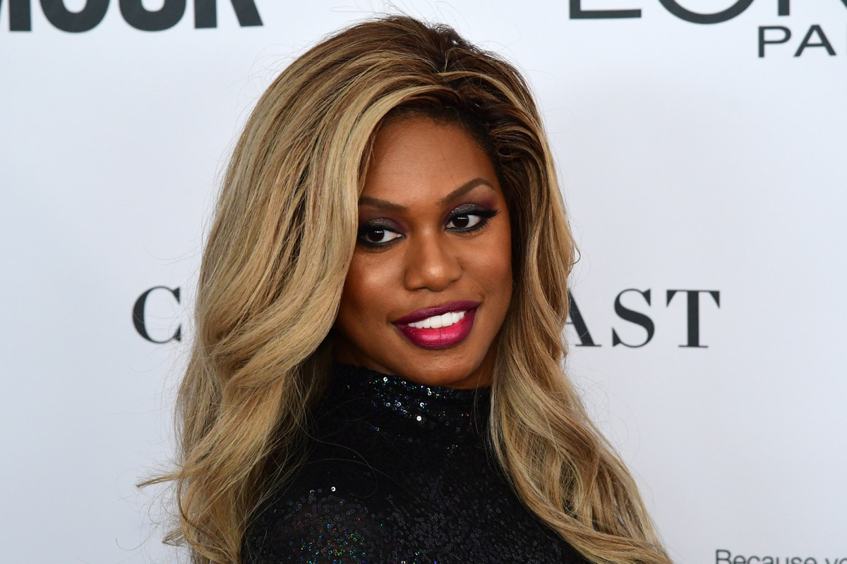 vegan celebrities - NEW YORK CITY - NOVEMBER 13 2017: The annual Glamour Women of the Year Awards ceremony was held in Brooklyn's Kings Theater on Flatbush Ave. Actress Laverne Cox - Image