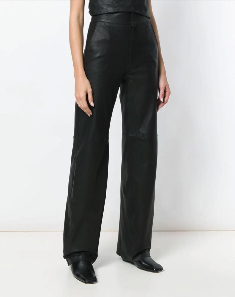 leather pants - far fetch