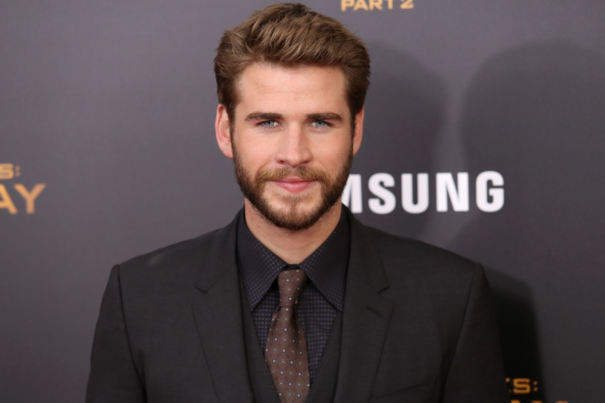 """vegan celebrities - NEW YORK - NOV 18, 2015: Liam Hemsworth attends the premiere of """"The Hunger Games: Mockingjay - Part 2"""" at AMC Lincoln Square on November 18, 2015 in New York City. - Image"""