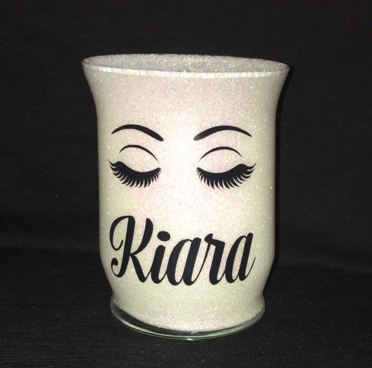 Personalized Makeup Brush Holder {Handmade Items from Amazon}