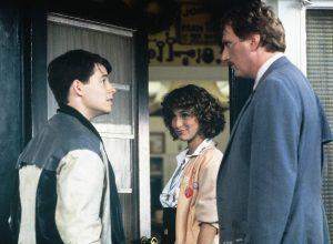 Matthew Broderick, Jennifer Grey, and Jeffrey Jones in Ferris Bueller's Day Off (1986)