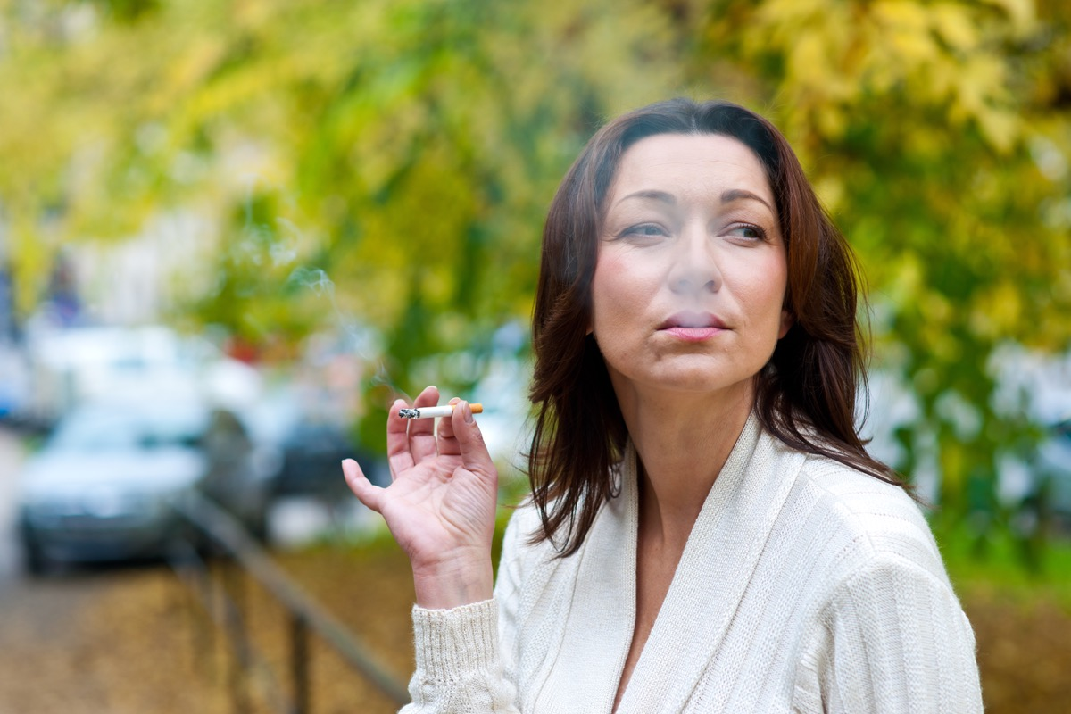 mature woman smoking things you're doing that would horrify sleep doctors