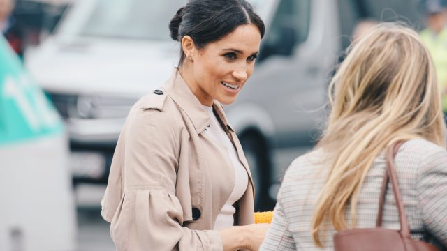 vegan celebrities - AUCKLAND, NZ - OCTOBER 30: The Duchess of Sussex (Meghan Markle) visiting Auckland's Viaduct Harbour during her first Royal Tour in New Zealand on October, 2018 in Auckland, New Zealand. - Image