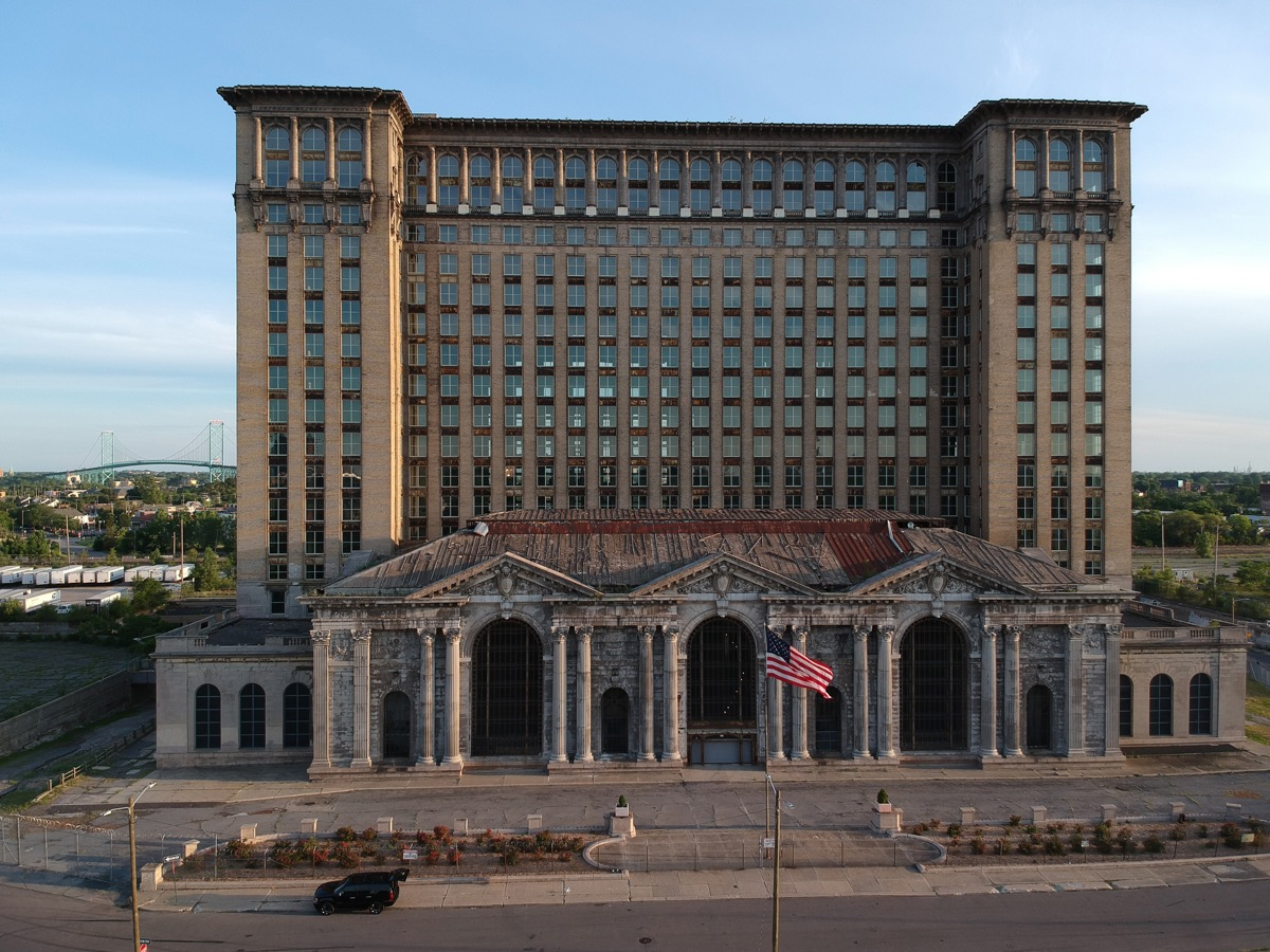Michigan Central Station Detroit creepiest abandoned buildings