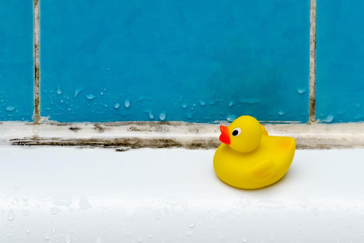 mildew around bathtub, old school cleaning tips