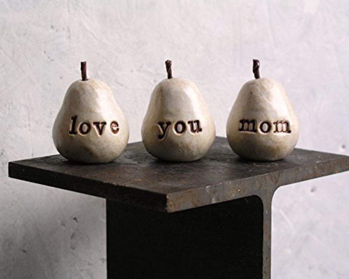 Love You Mom Pears {Handmade Items From Amazon}