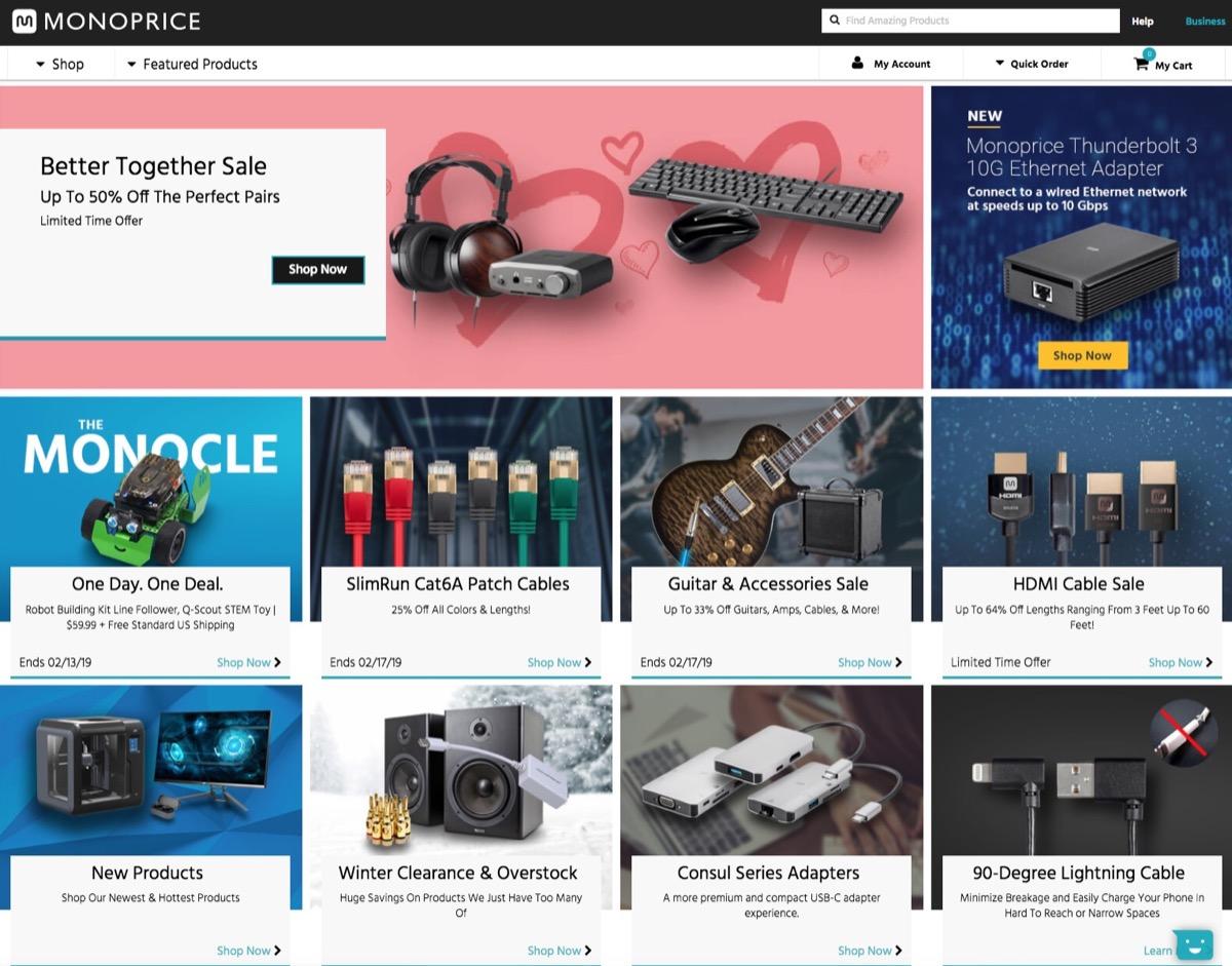 Monoprice Homepage {Save Money on Electronics}