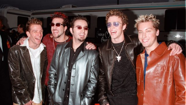 NSYNC at the American Music Awards in 2000