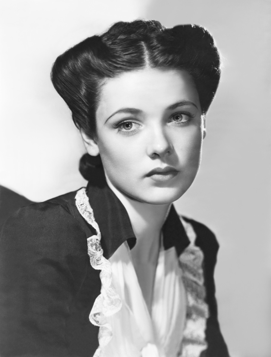 Gene Tierney Omelet Fold Hairstyle