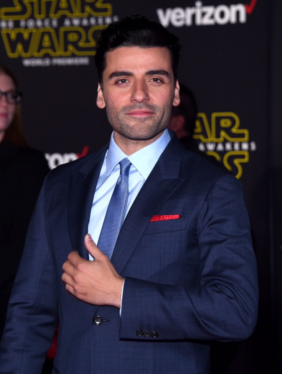 """LOS ANGELES - DEC 14: Oscar Isaac arrives to the """"Star Wars: The Force Awakens"""" World Premiere on December 14, 2015 in Hollywood, CA. - Image"""