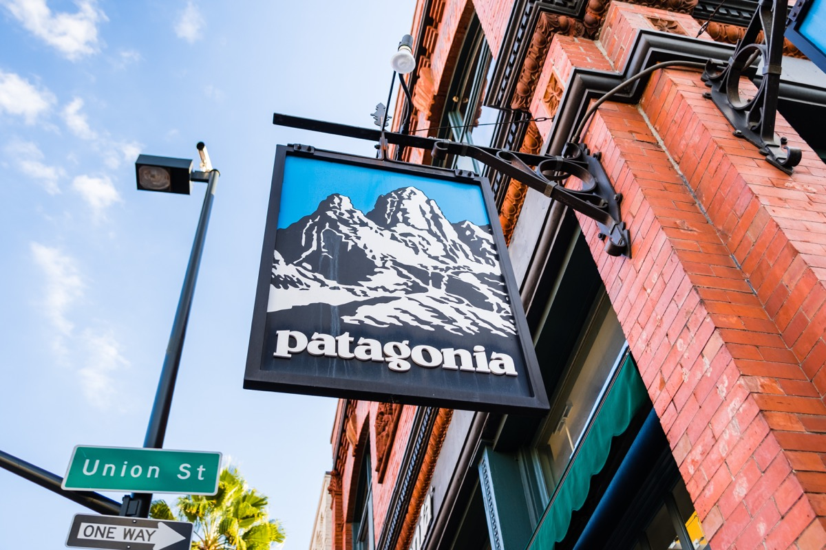 A Sign For a Patagonia Store {Discounts For Old Items}