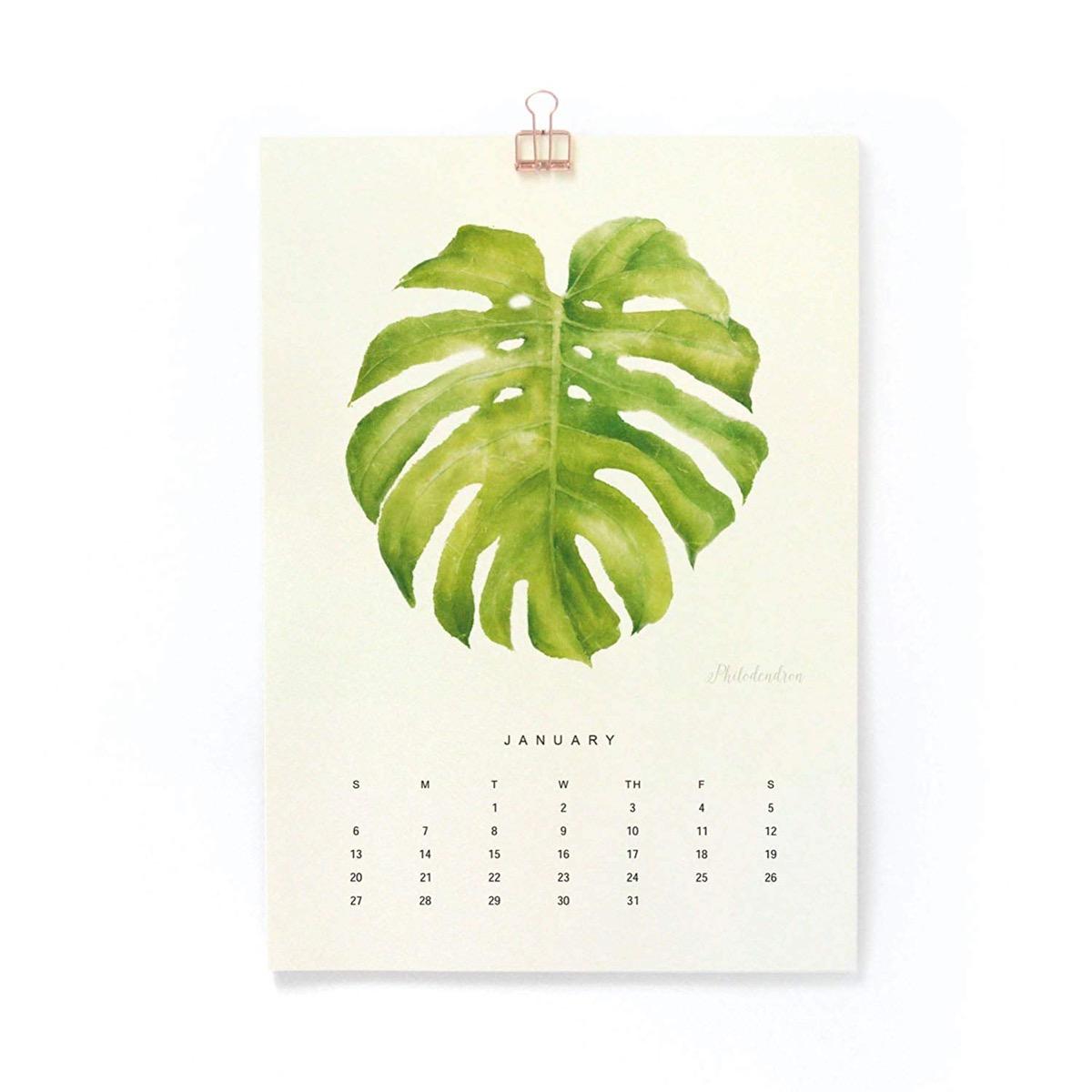 Watercolor Plant Calendar {Handmade Items From Amazon}