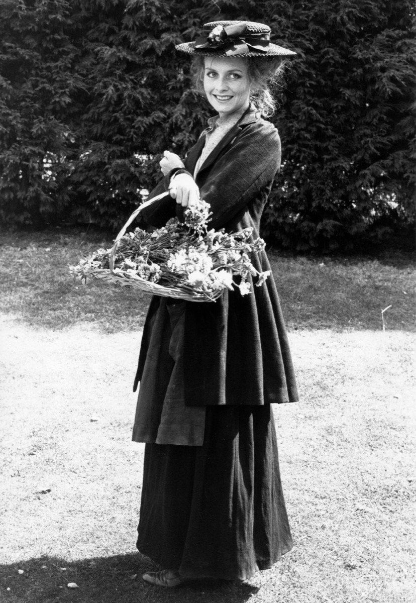 Model Twiggy in the television version of 'Pygmalion'
