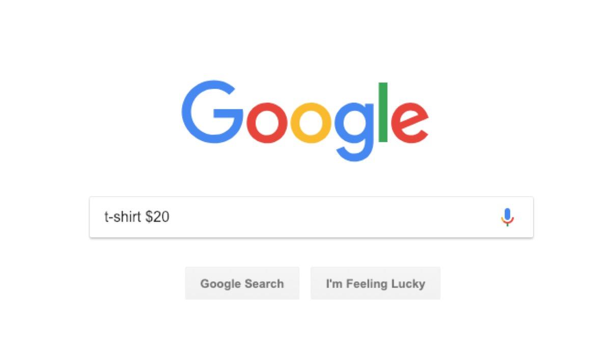 google shopping search - google tricks