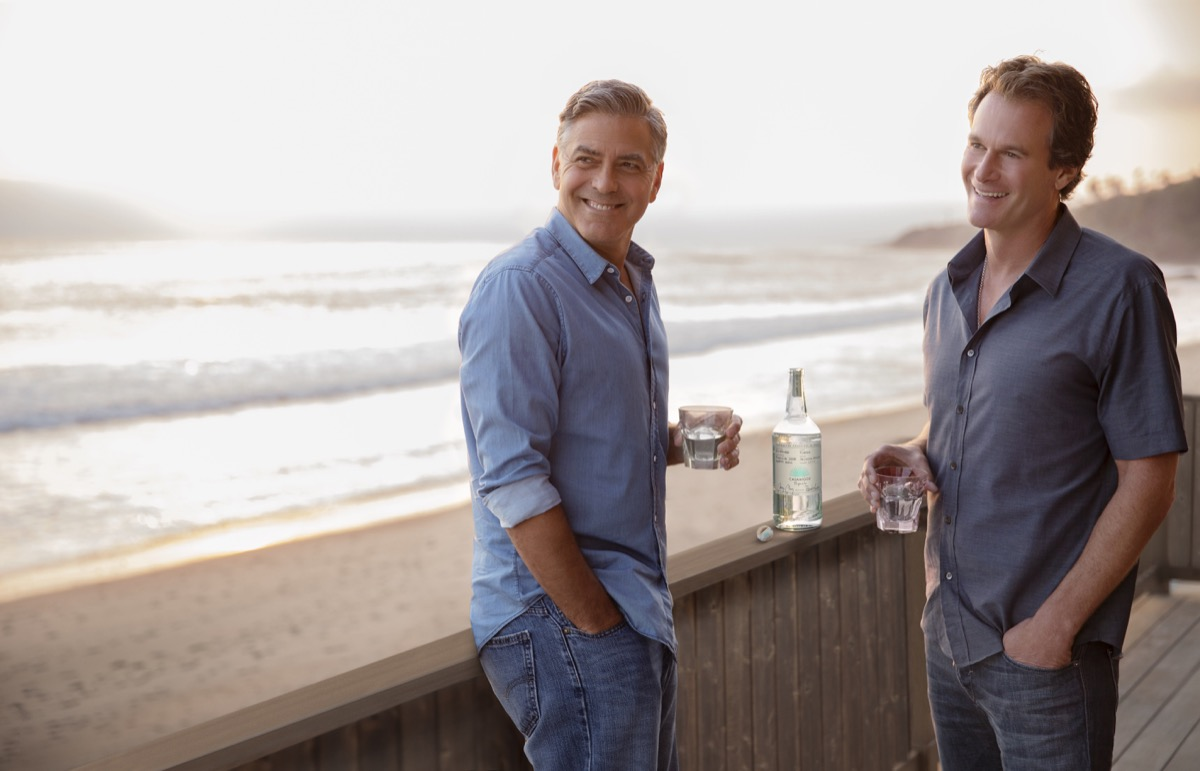 rande gerber and george clooney drinking casamigos tequila in malibu