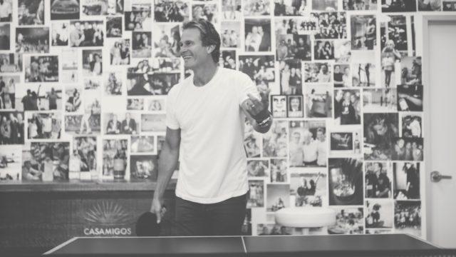 rande gerber playing ping pong