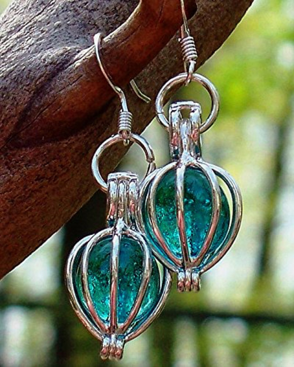 Recycled Mason Jar Earrings {Handmade Items From Amazon}