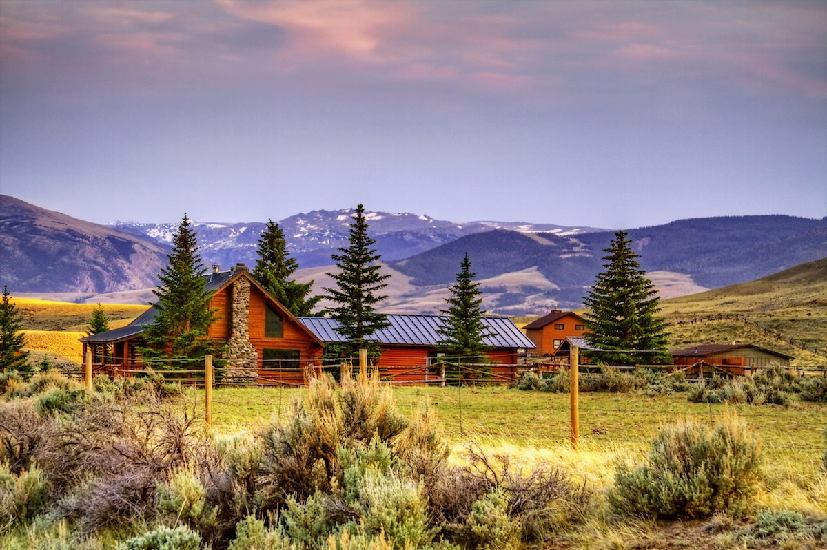 Remote cabin in Wyoming most popular house styles
