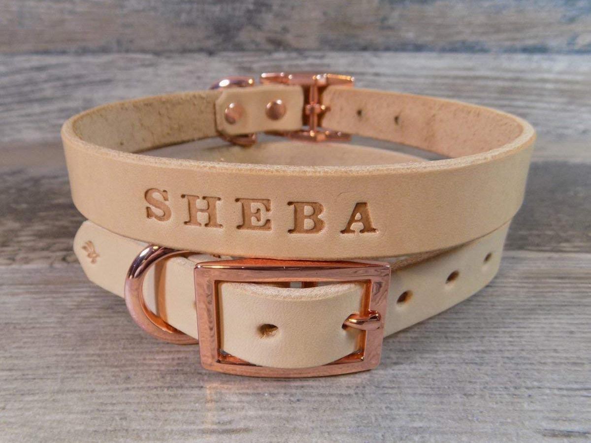 Rose Gold Dog Collar {Handmade Items From Amazon}