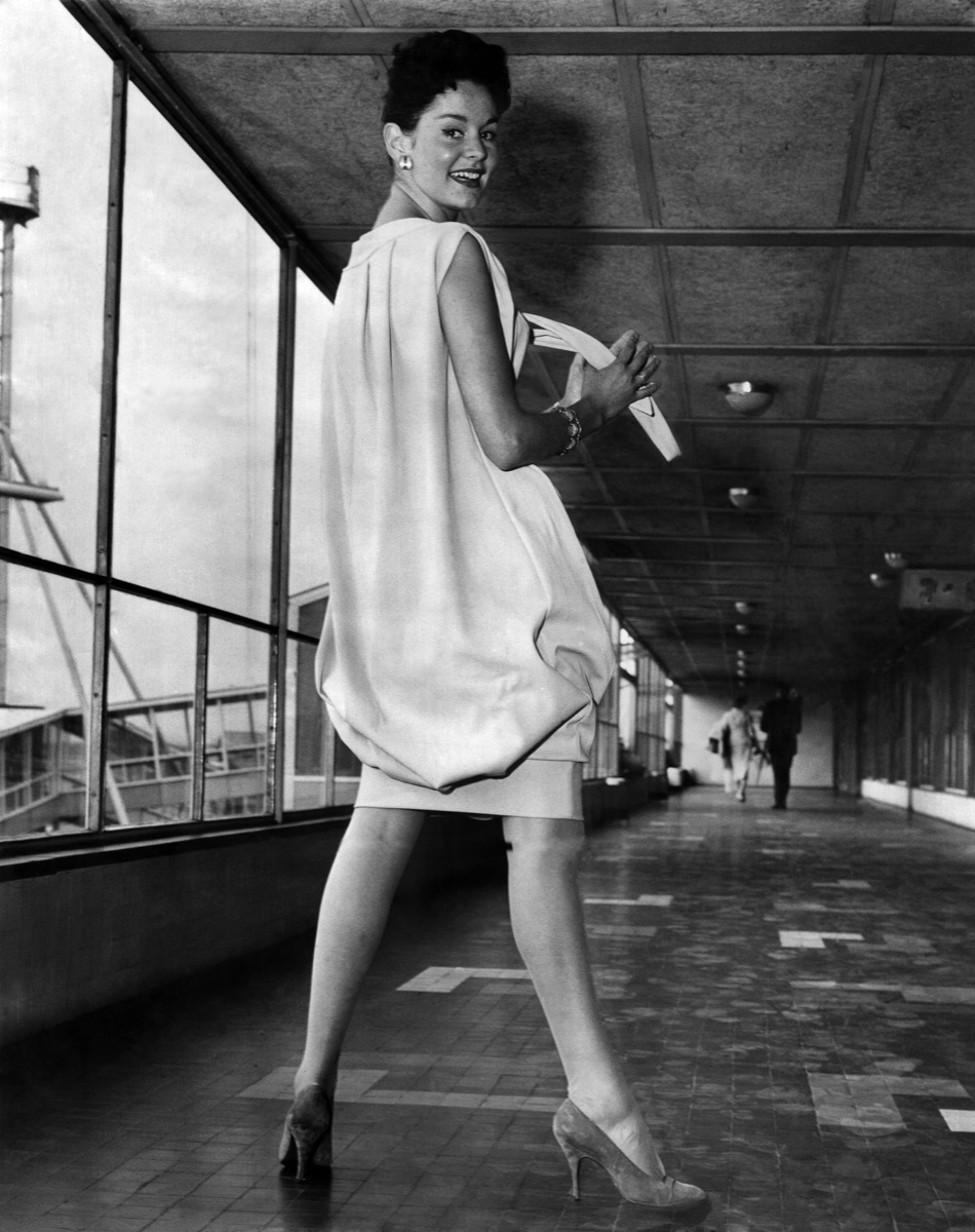 Model in a Sack Dress {Style Through the Years}