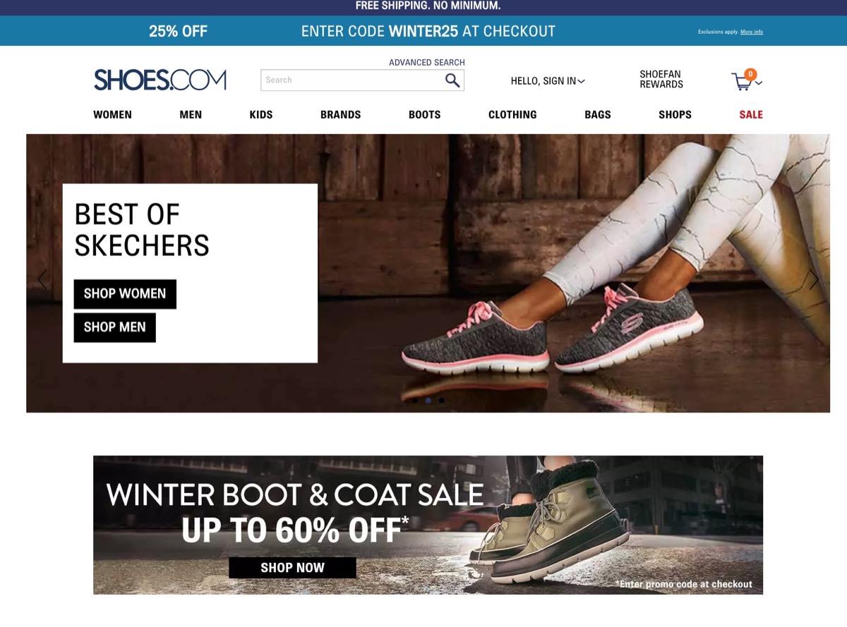 Shoes.com Website {Save Money on Shoes}