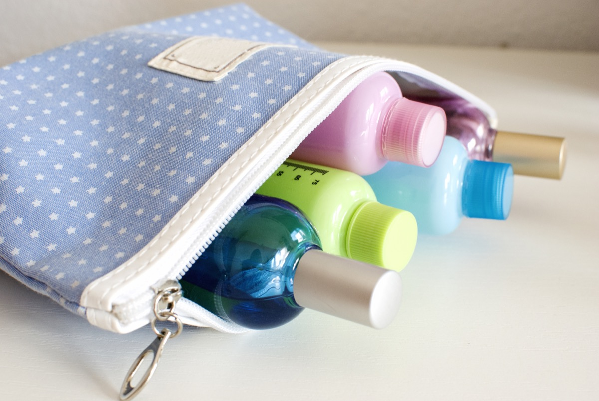 Toiletry bag with small toiletries