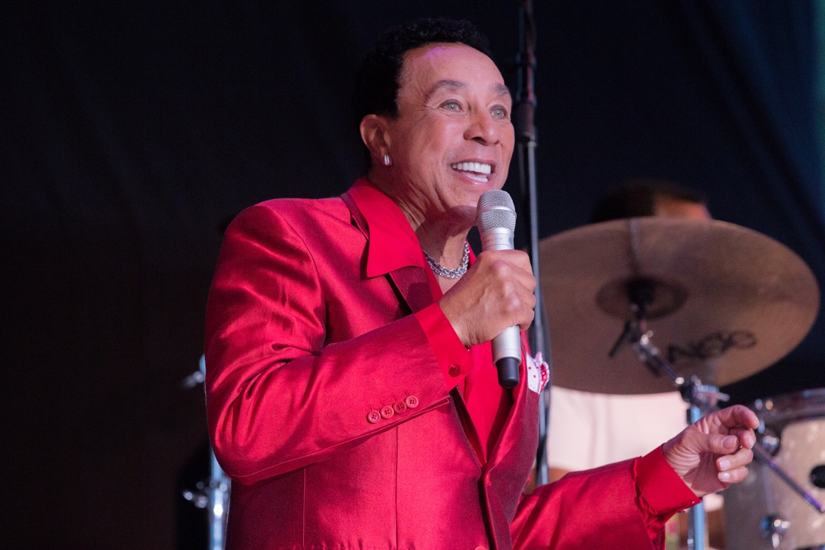 Laytonville, CA/USA - 6/27/2015 : Smokey Robinson performs at the Kate Wolf Music Festival in Laytonville, CA. Robinson is a Grammy Award winner and Rock and Roll Hall of Fame inductee. - Image