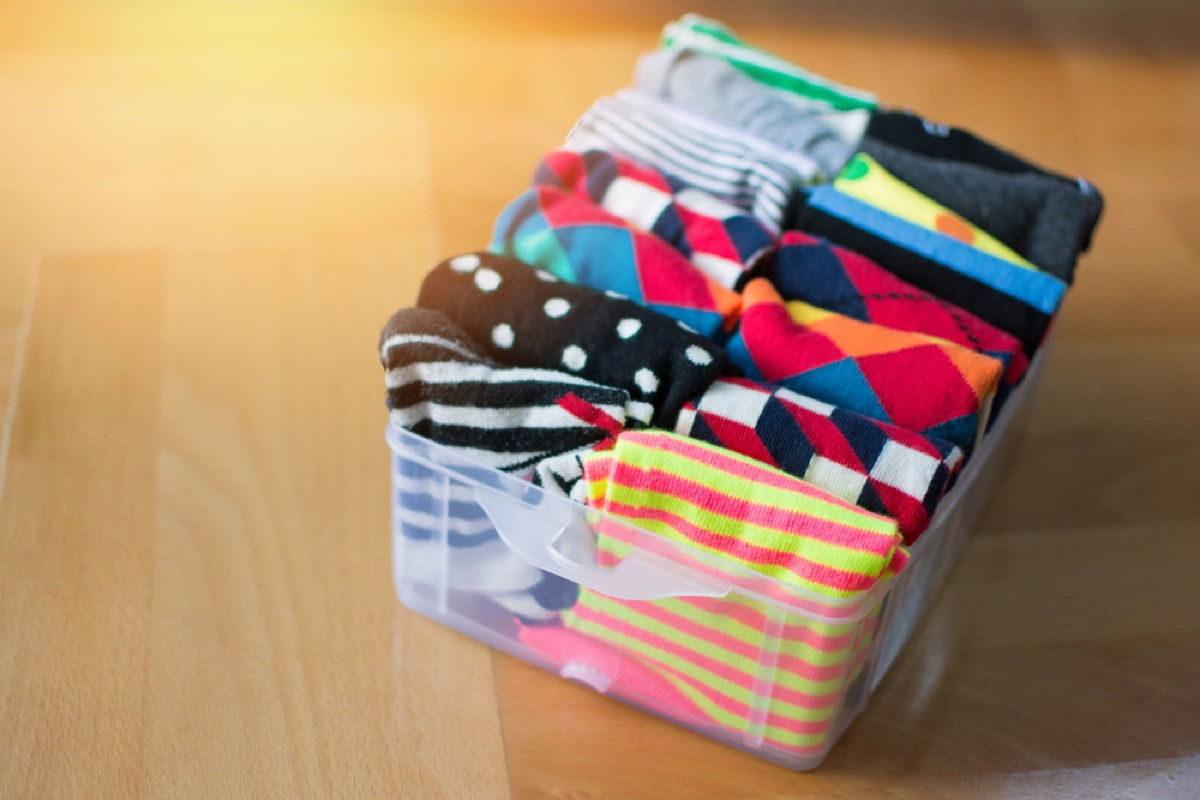 sock organizer, downsizing your home