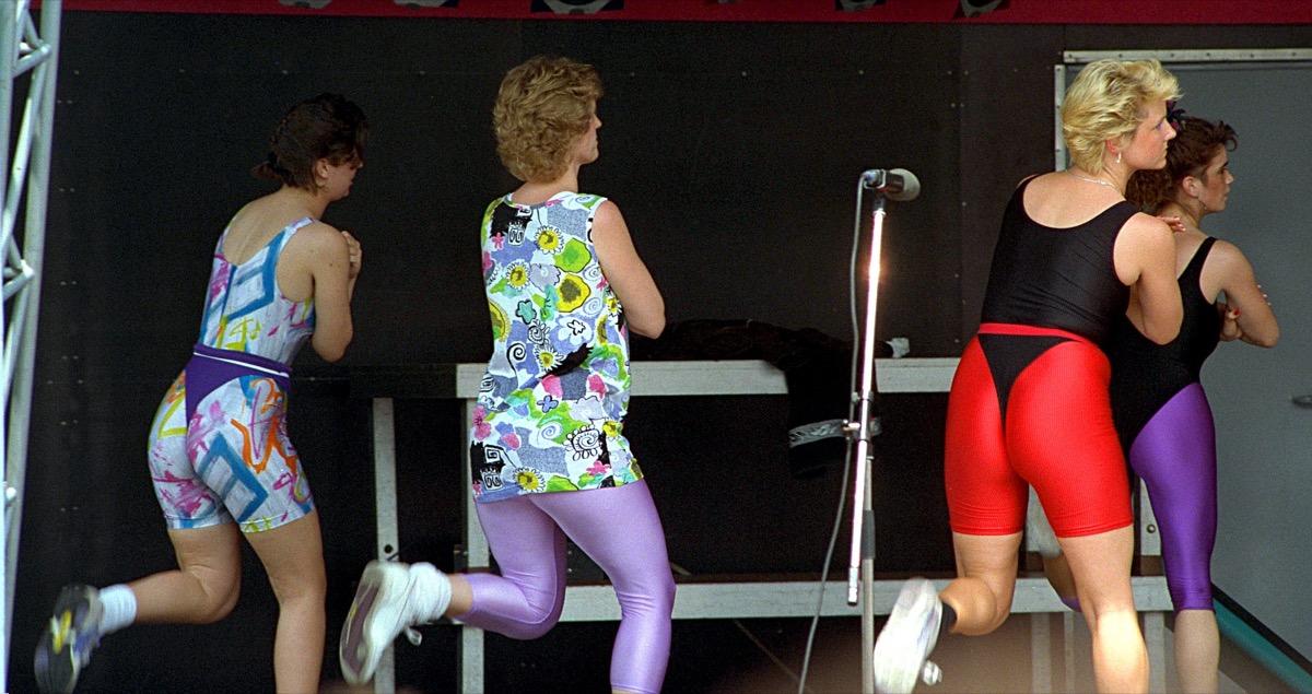 People Doing Aerobics in Spandex