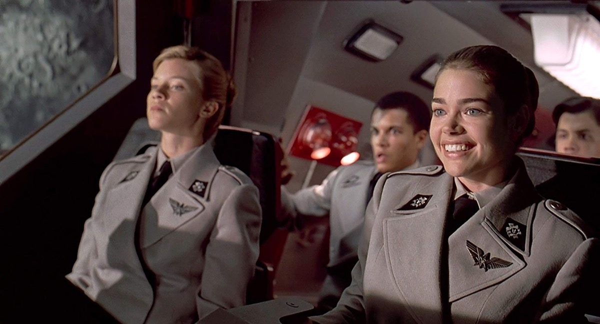 Denise Richards and Amy Smart in Starship Troopers (1997)