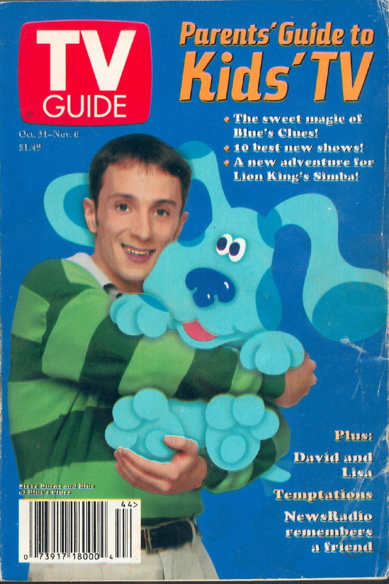 TV Guide cover with Steve Burns of Blue's Clues