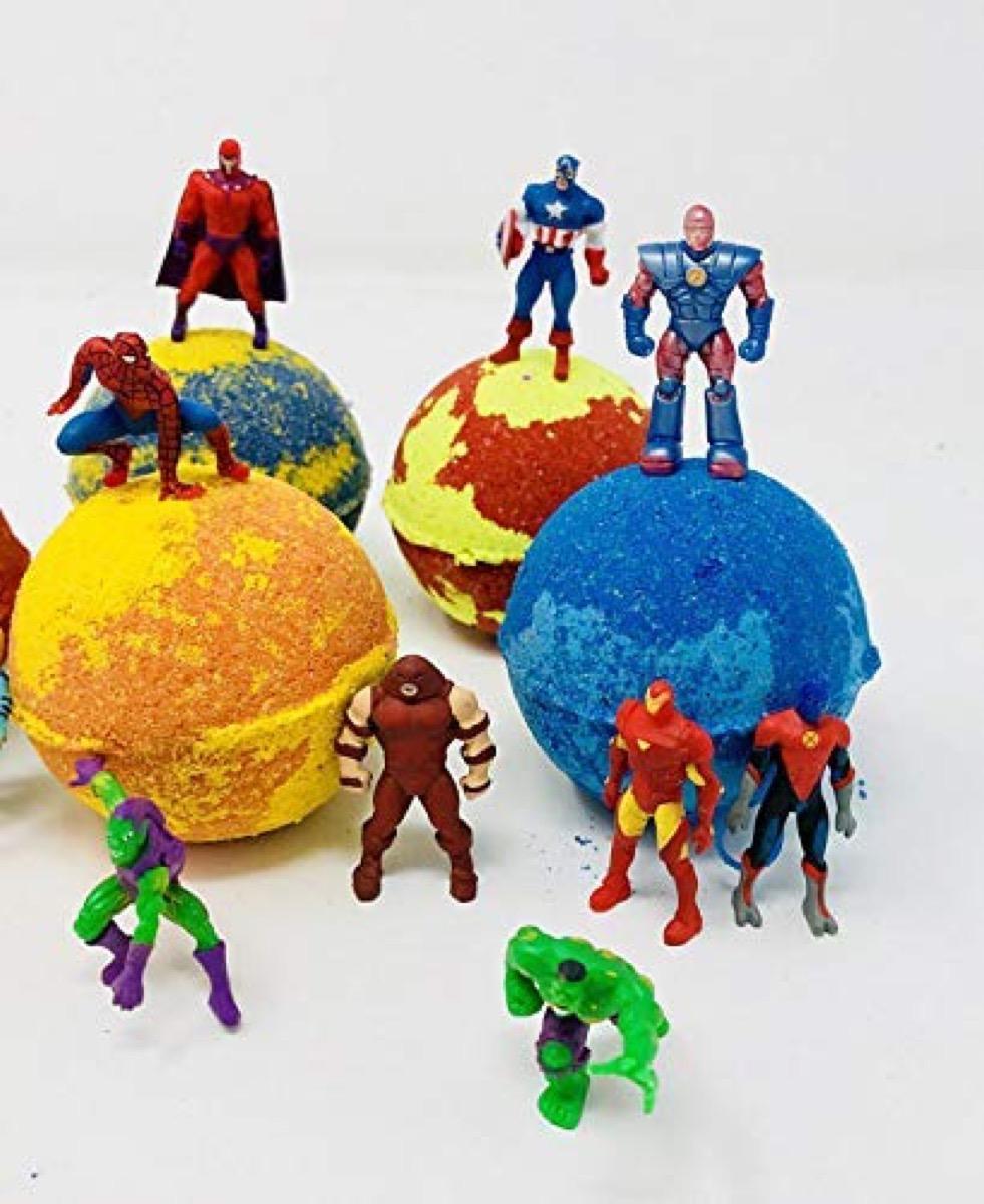 Superhero Bath Bombs {Handmade Items From Amazon}