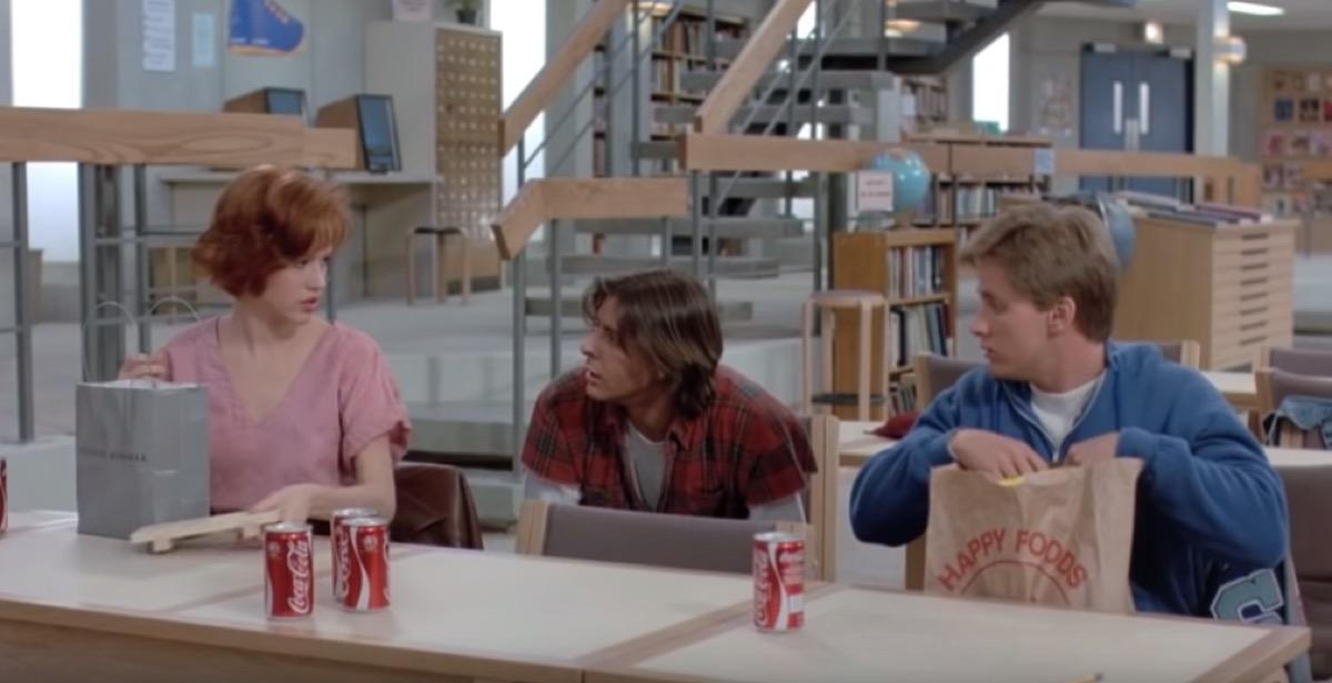 The Breakfast Club Movie scene, best teen romance movies
