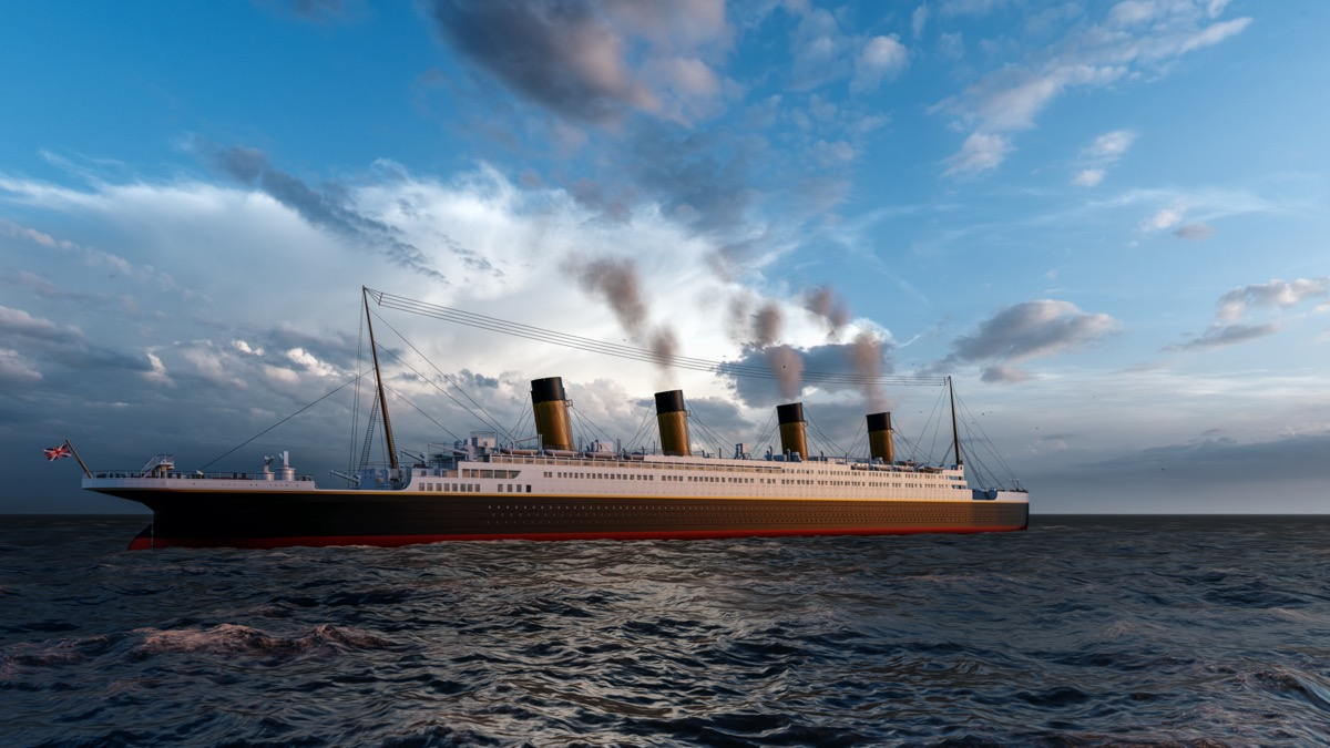 3D rendering of the first titanic
