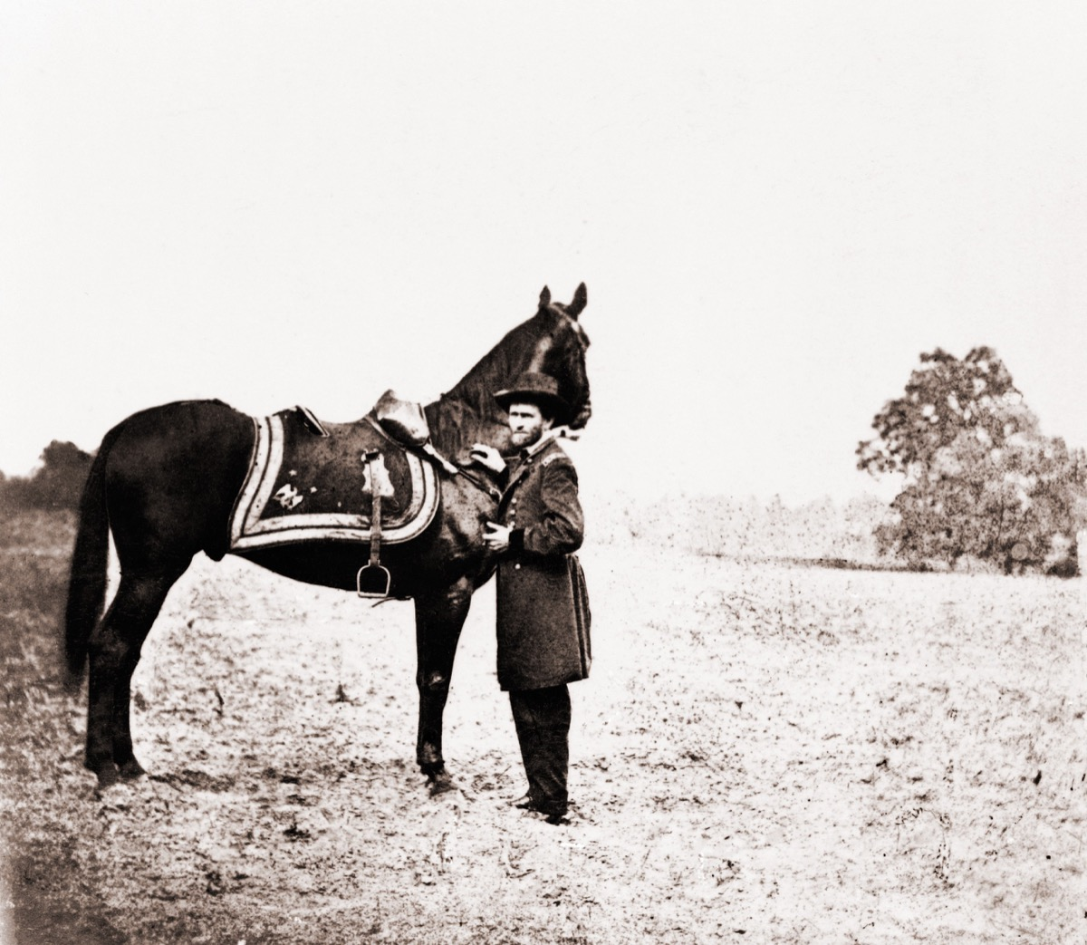 Ulysses S. Grant with horse