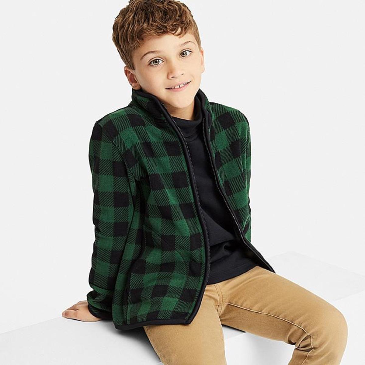 Uniqlo Printed Fleece {Save Money on Kids' Clothes}