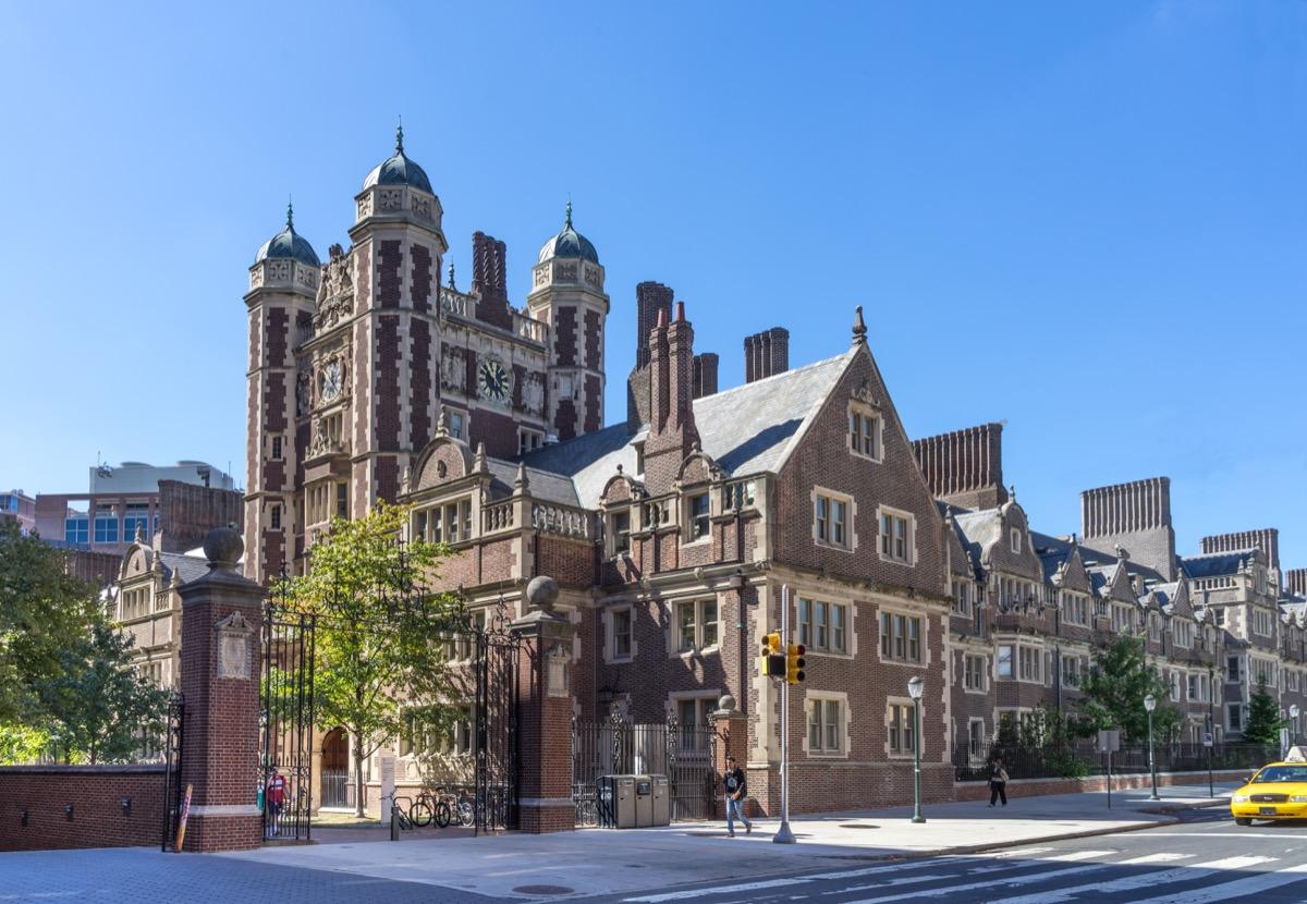 Philadelphia, Pennsylvania USA - Oct 1 , 2017 - University of Pennsylvania, Quadrangle (dormitory) from Spruce Street. - Image