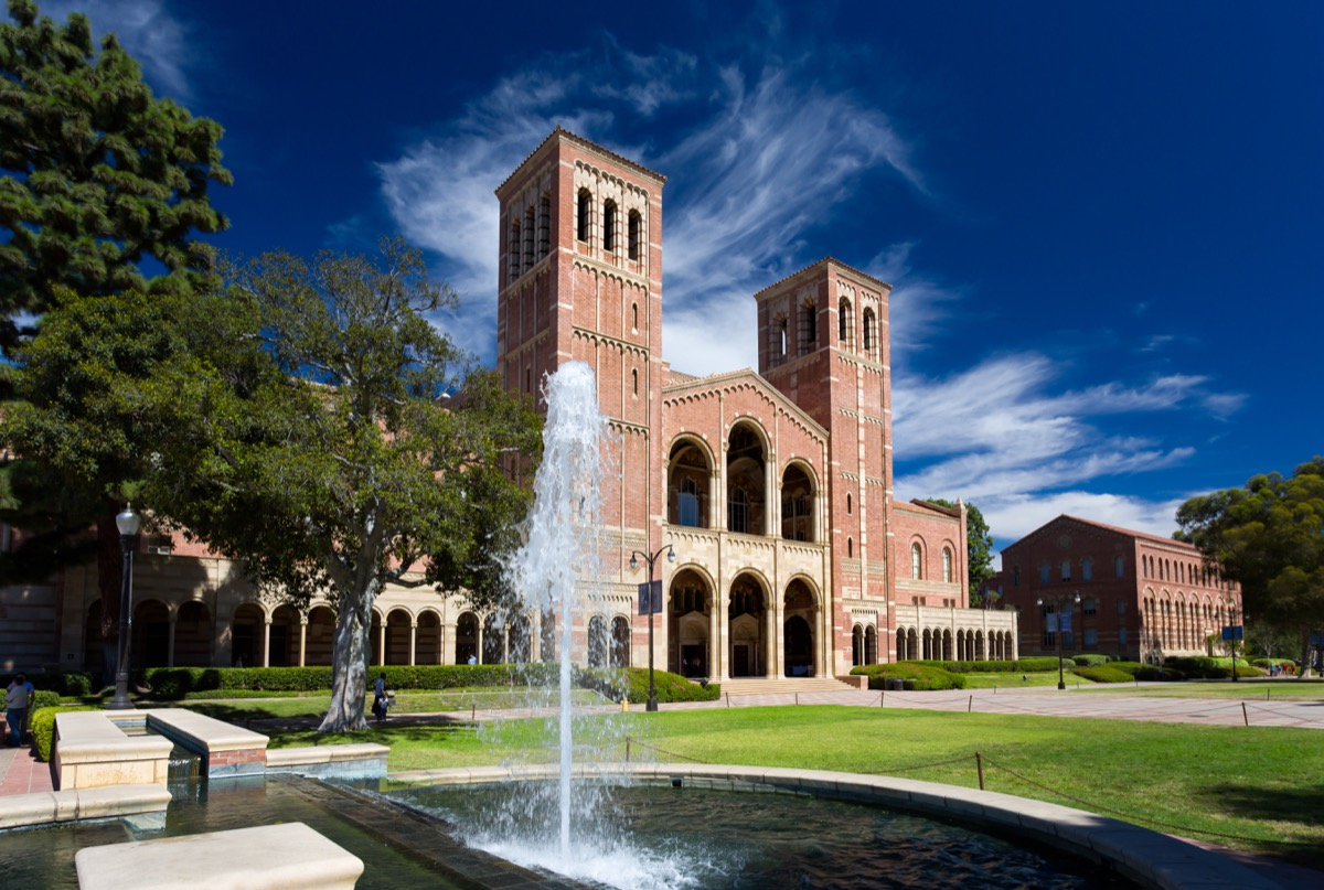 LOS ANGELES, CA/USA - OCTOBER 4, 2014: Royce Hall on the campus of UCLA. Royce Hall is one of four original buildings on UCLA's Westwood campus. - Image