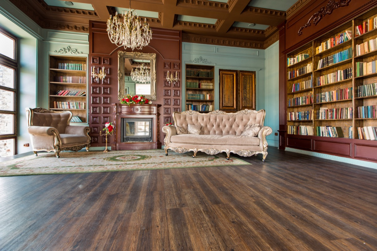 library in victorian home