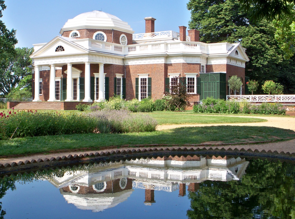 Monticello Virginia Privately owned Landmarks