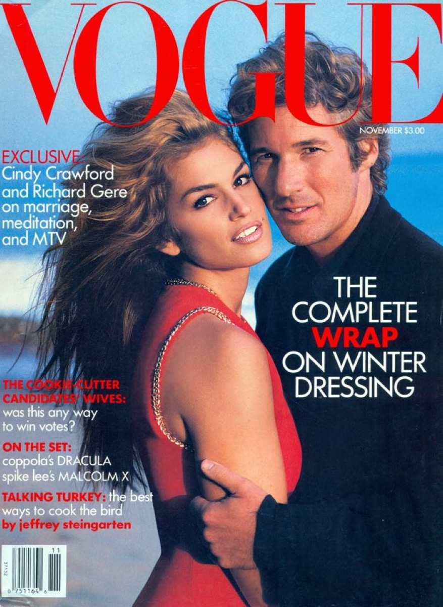 Cindy Crawford and Richard Gere on the cover of Vogue