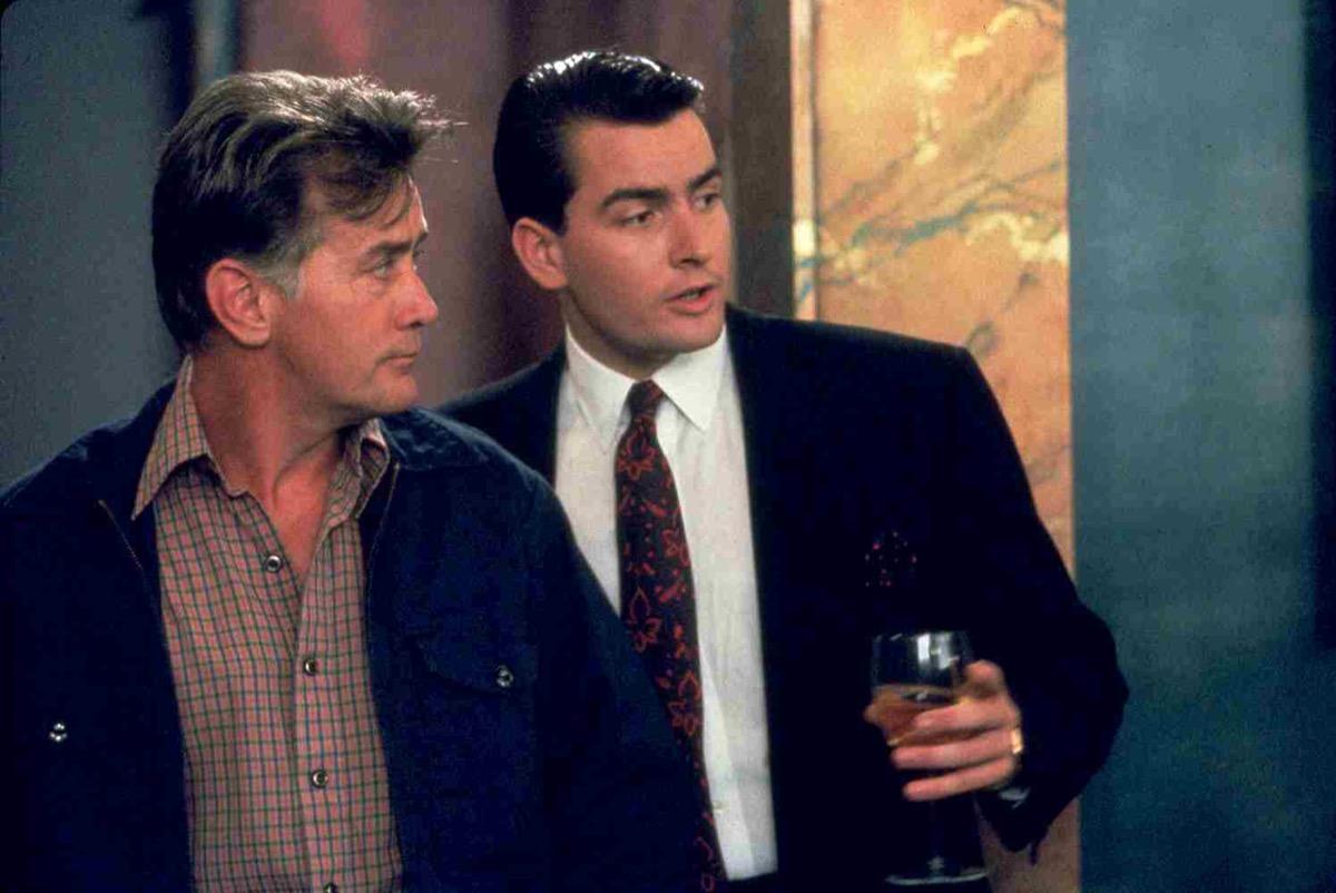 Charlie Sheen and Martin Sheen in Wall Street (1987)