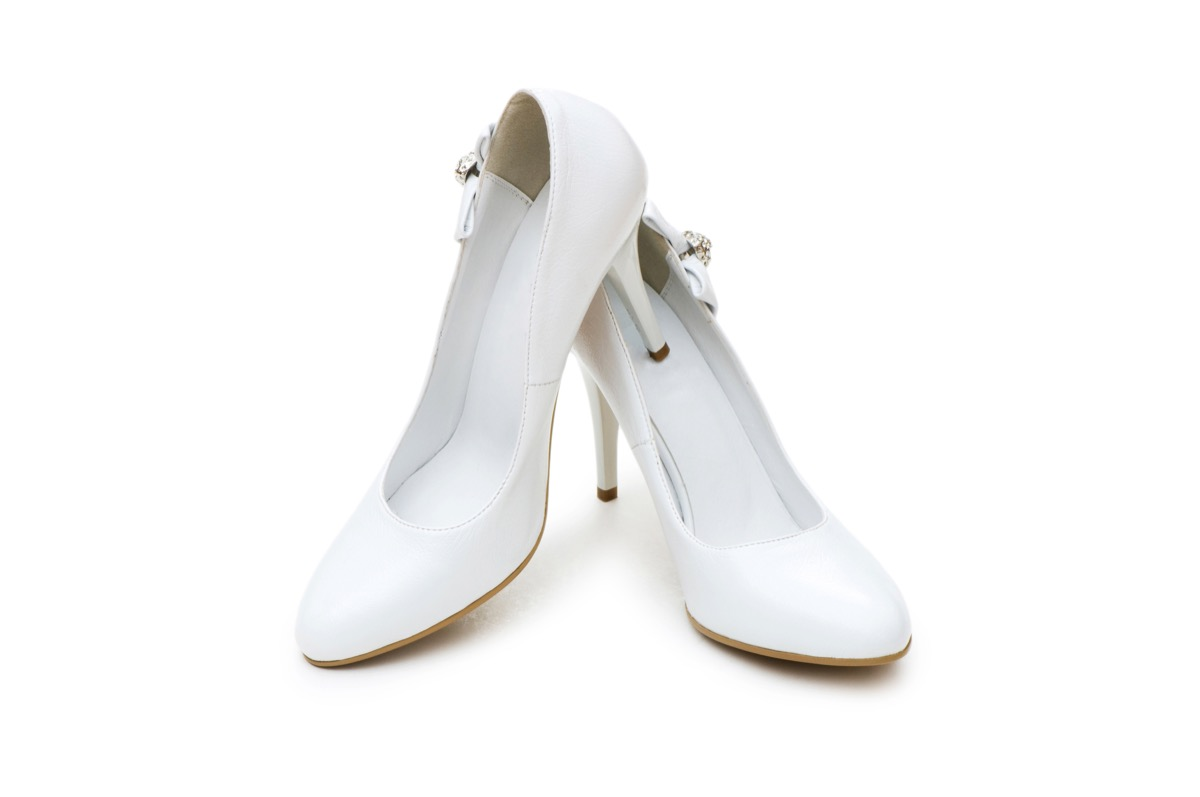 white pumps from the 80s