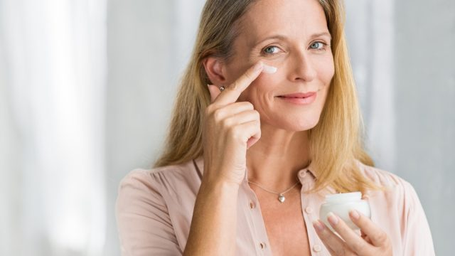 Woman skin lotion face