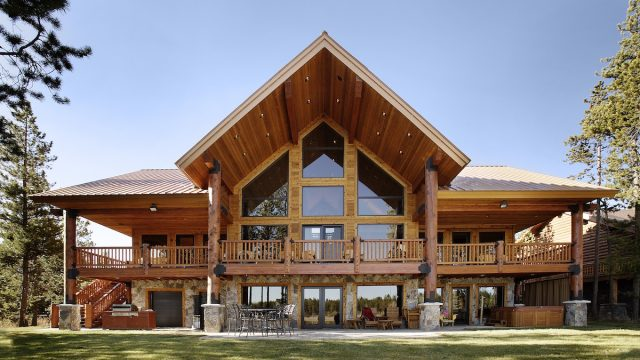 Wooden home in Georgia most popular house styles