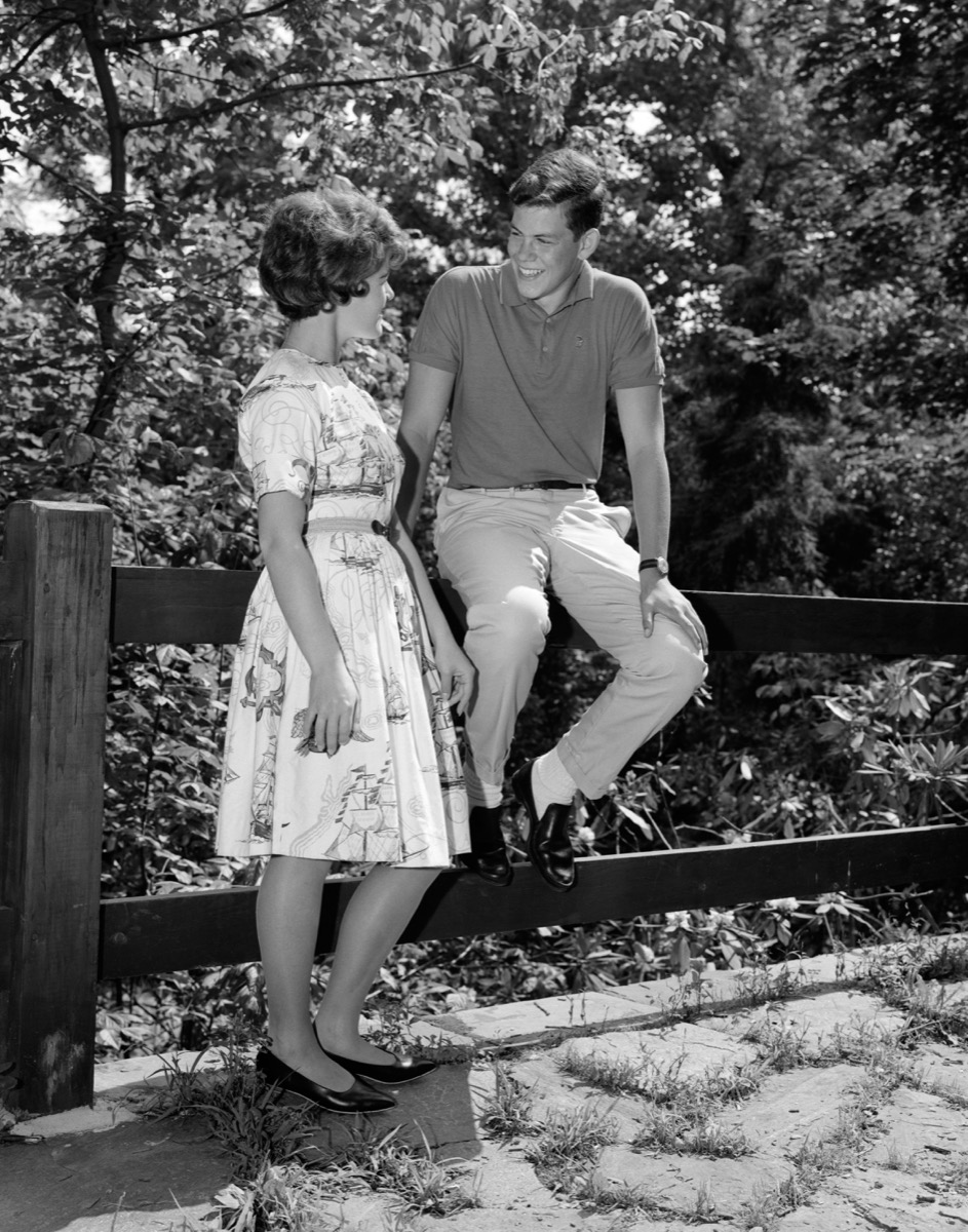 Two Teenagers Flirting in the 1960s Old Dating Advice for Girls