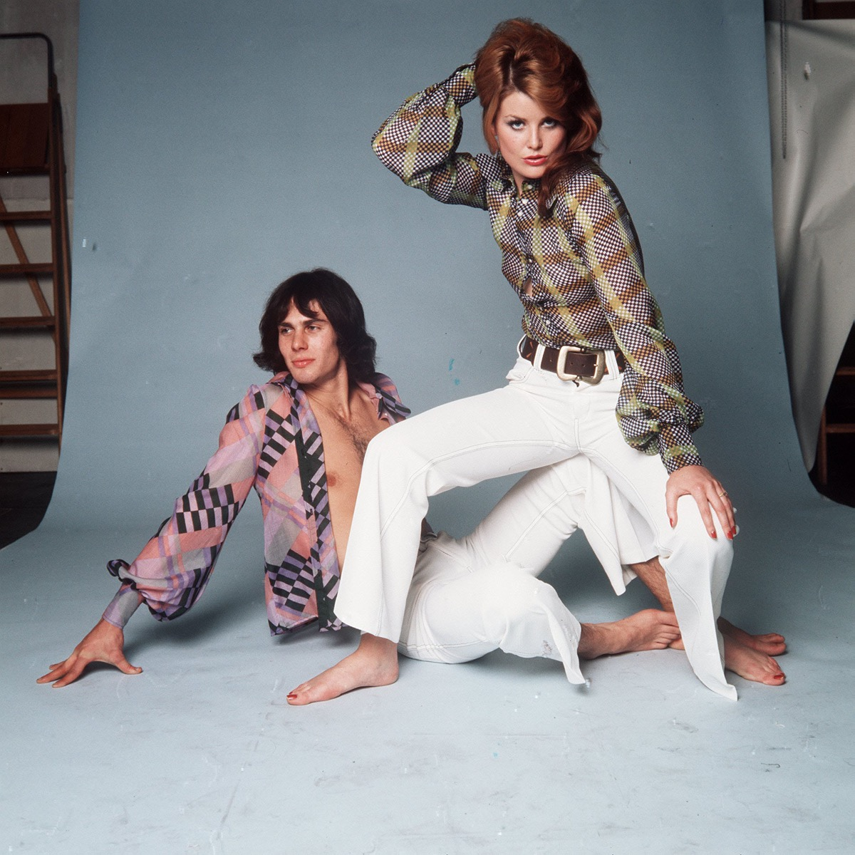 a couple rocking the coolest and craziest 1970s fashion